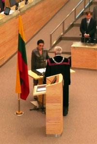 Marija Aušrinė Pavilionienė prisiekia Seime